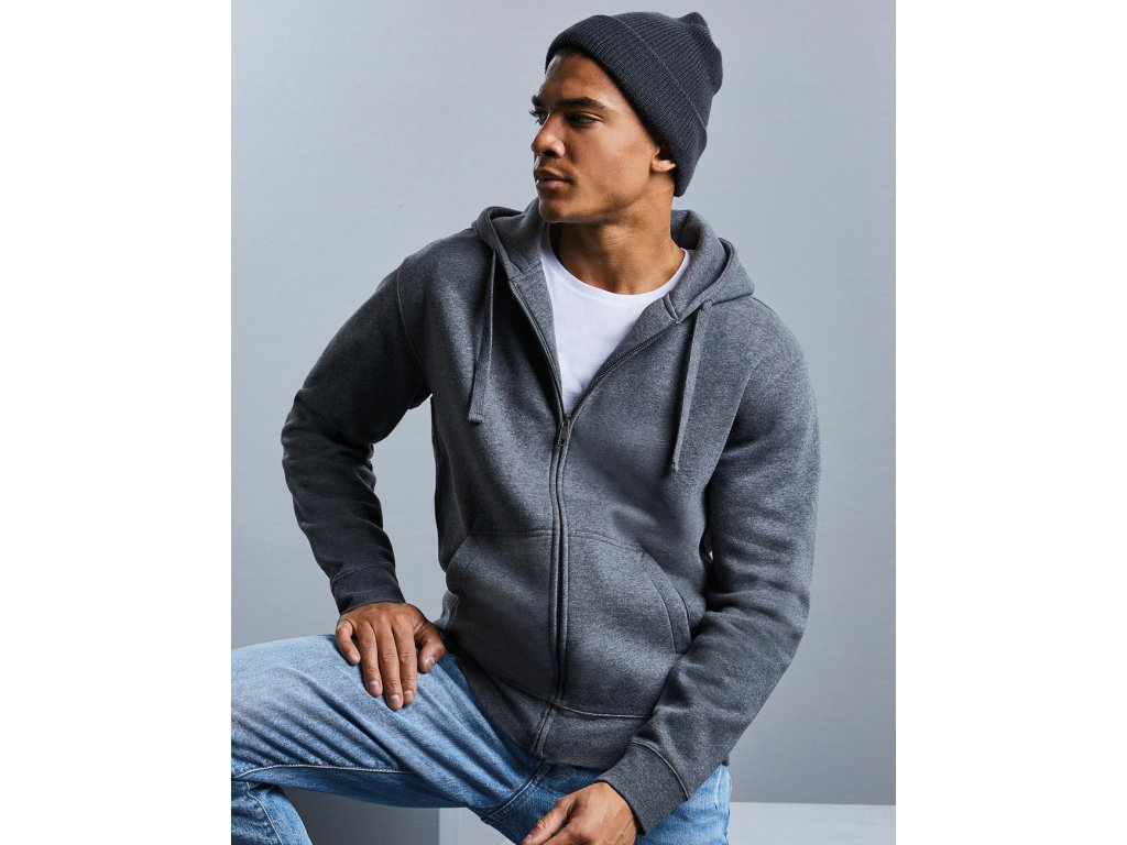Pánska mikina Authentic Melange Zipped Hood Sweat