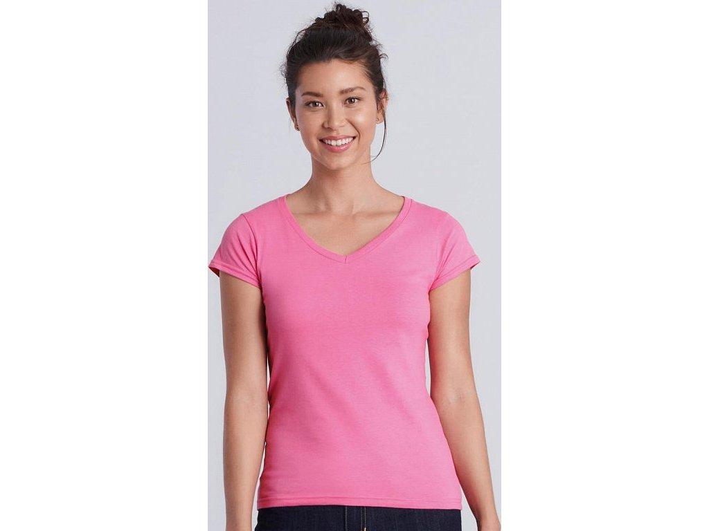 Dámske tričko Softstyle® V-Neck