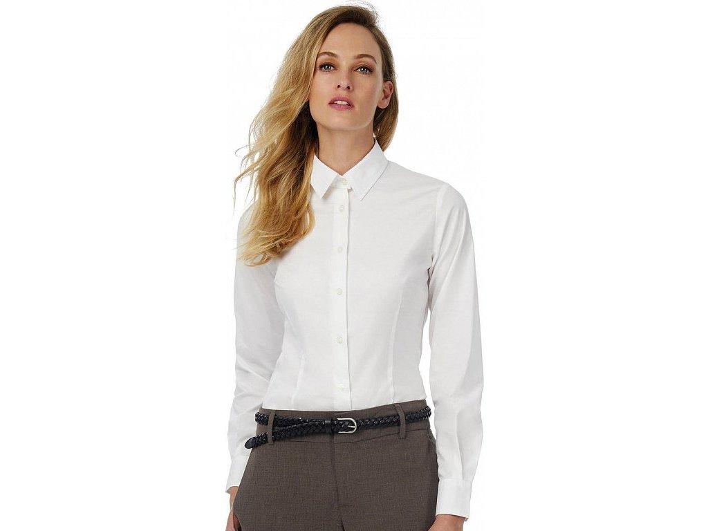 Dámska košeľa Elastane s dlhými rukávmi Black Tie