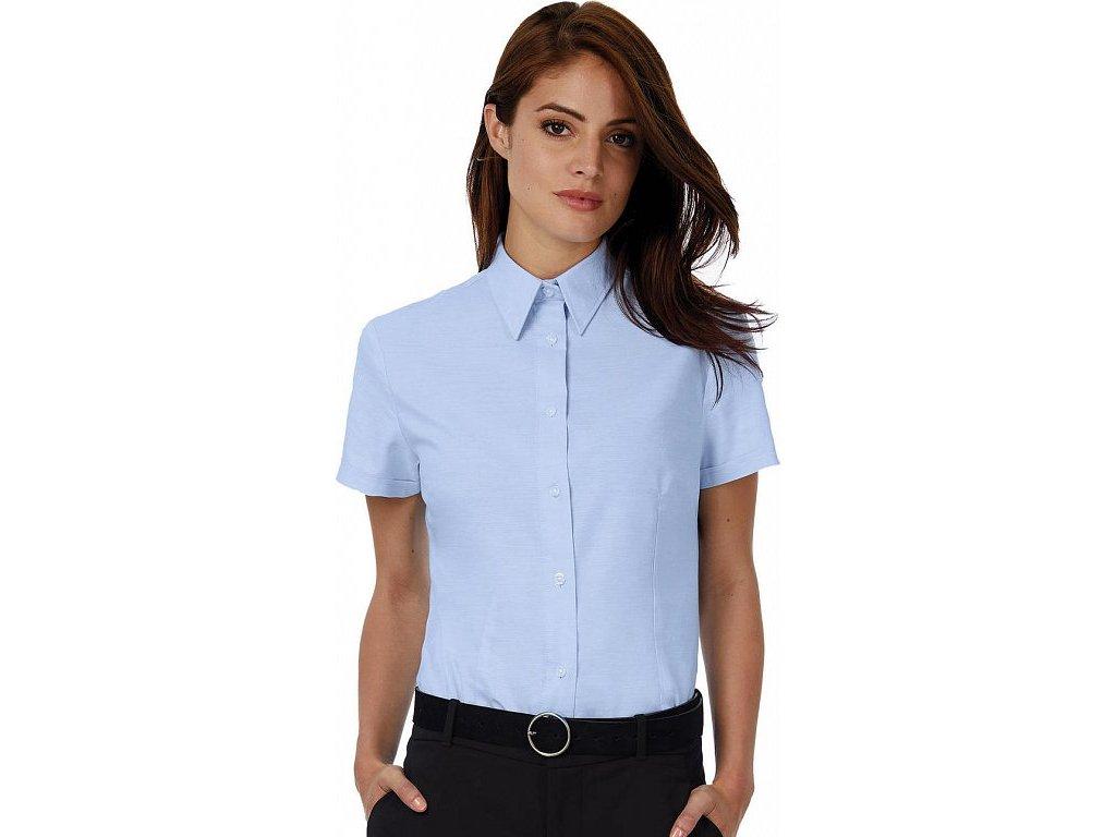 Dámska košeľa Oxford s kratkými rukávmi