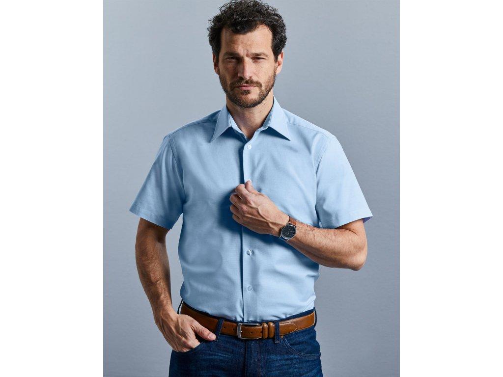 Pánska košeľa Oxford s kratkými rukávmi