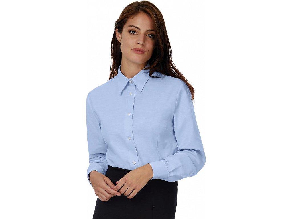 Dámska košeľa Oxford s dlhými rukávmi - SWO03