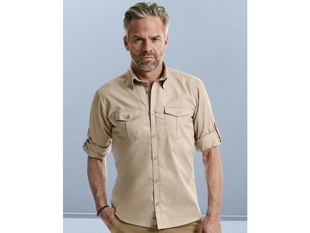 Košeľa s vyhrňovacími rukávmi, čierna, veľkosť 4XL