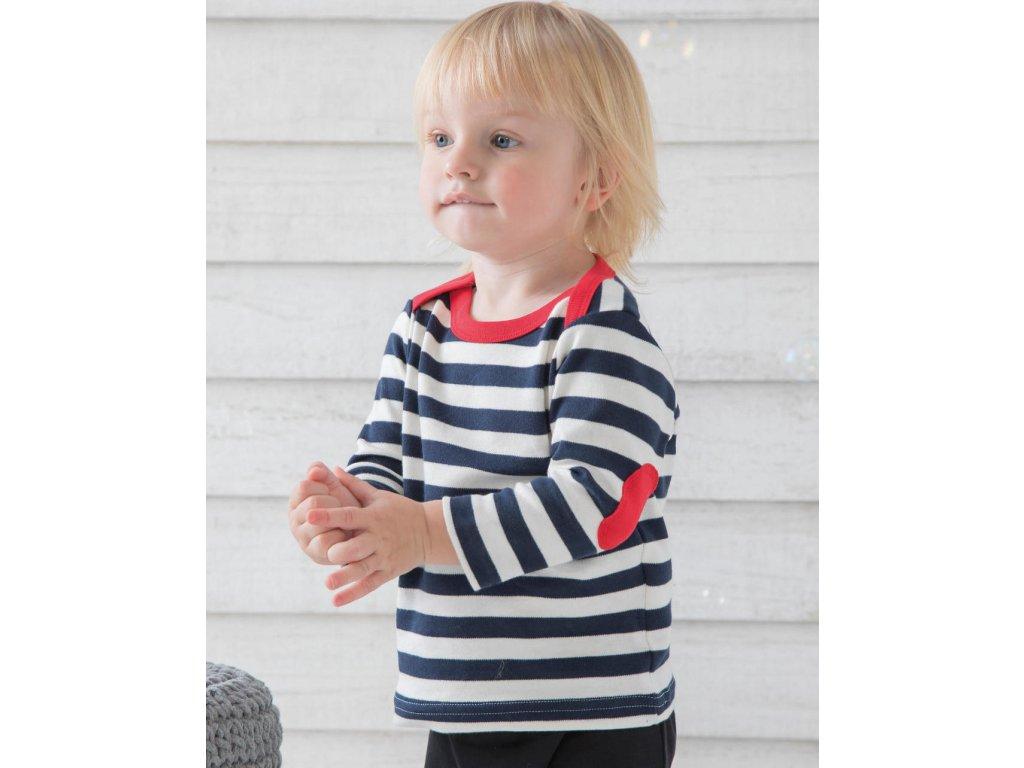 Páskované tričko s dlhými rukávmi pre bábätká
