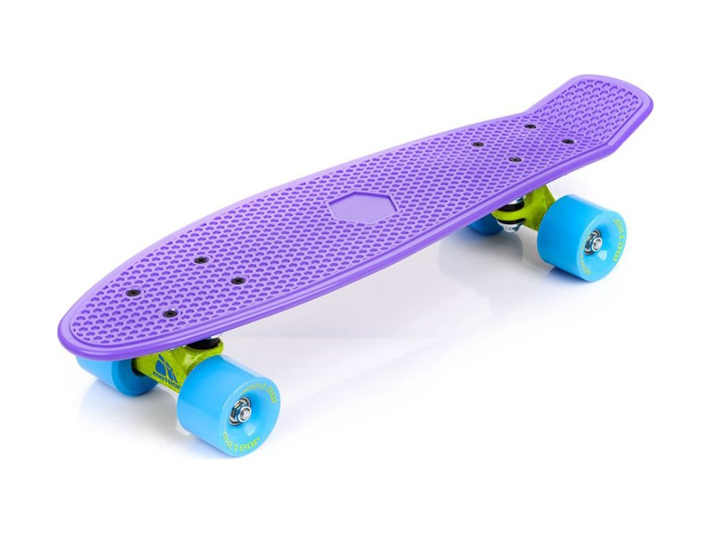Skateboard METEOR violet/neon blue /23693