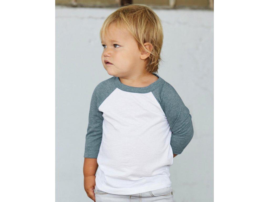 Detské baseballové tričko s ¾ rukávmi