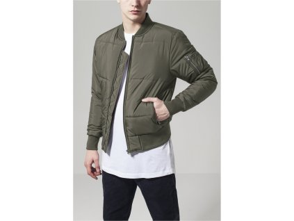 Bunda Basic Quilt Bomber Jacket