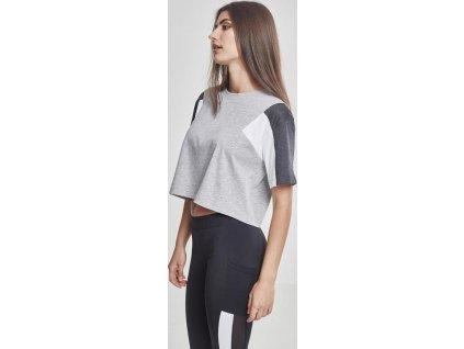 Dámske krátke oversize tričko Ladies 3-Tone Short Oversize Tee