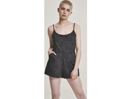 Ladies Animal Short Spaghetti Jumpsuit