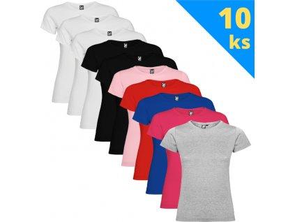 Balík 10 ks detských dievčenských tričiek
