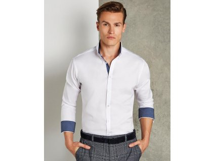 Košeľa s dlhými rukávmi Contrast Oxford