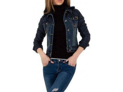 Dámska rifľová bunda tmavomodrá