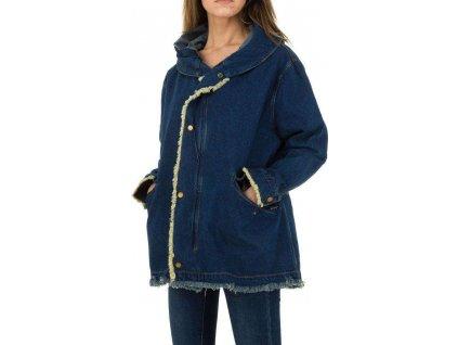 Dámska rifľová bunda modrá