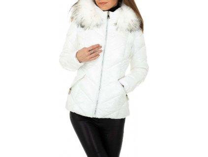Dámska bunda biela