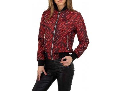 Dámska obojstranná bunda červená
