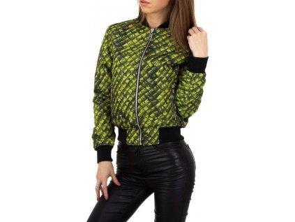 Dámska obojstranná bunda zelená