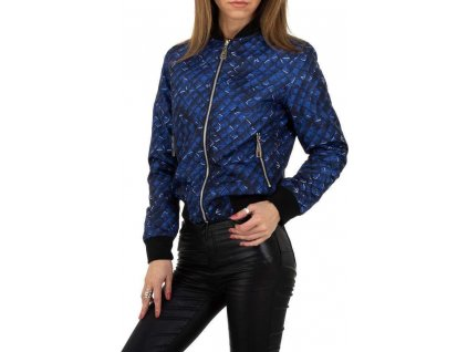 Dámska obojstranná bunda modrá