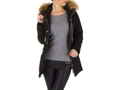 Dámska bunda čierna