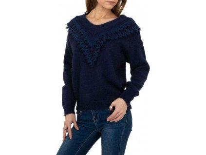 Dámsky pulóver modrý