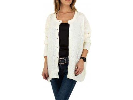 Dámsky sveter biely