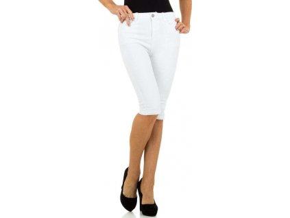 Dámske rifľové šortky biele