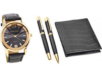 Pánsky darčekový set Pierre Cardin Gift Set Watch & Wallet & Pen PCX7870EMI