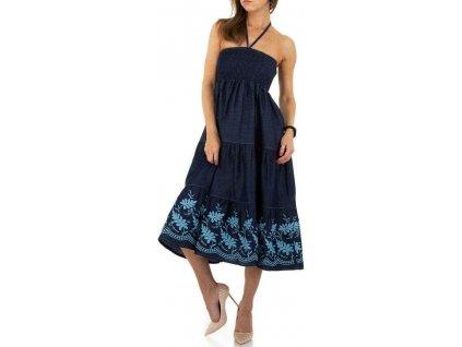 Dámske rifľové šaty modré