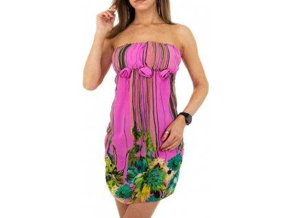 Dámske letné šaty ružové