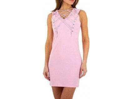 Dámske mini šaty ružové