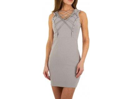Dámske mini šaty šedé