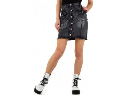Dámska rifľová sukňa čierna