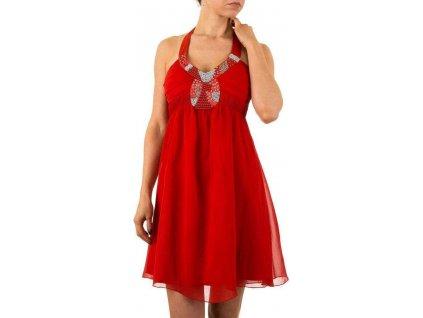 Dámske krátke šaty červené