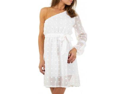 Dámske mini šaty biele