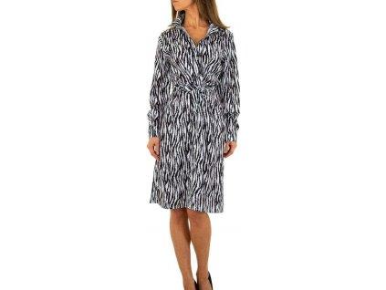 Dámske košeľové šaty zebra