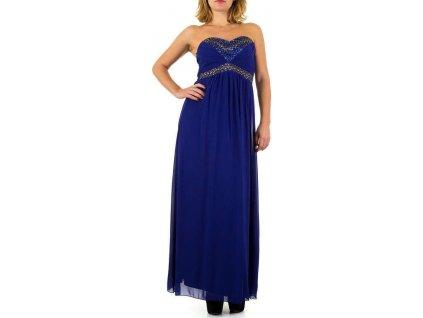 Dámske dlhé šaty modré