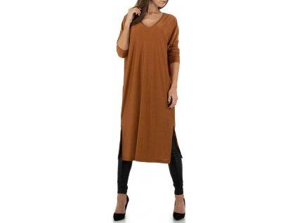 Dámske dlhé šaty camel