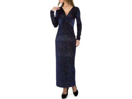 Dámske dlhé šaty tmavomodré