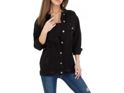 Dámska rifľová bunda čierna
