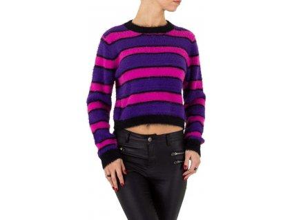 Dámsky krátky pulóver purple