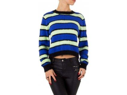 Dámsky krátky pulóver modrý