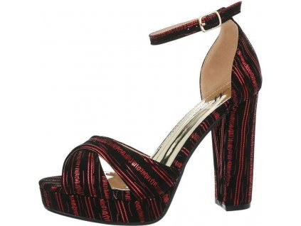 Dámske sandále červené