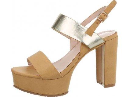 Dámske sandále béžové