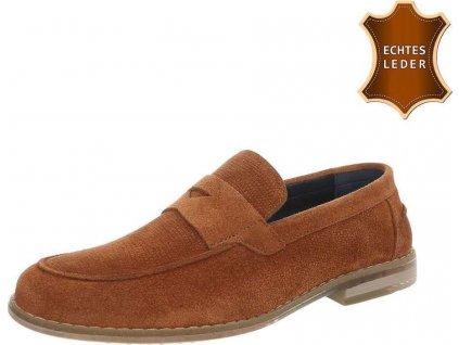 Pánske kožené topánky tan
