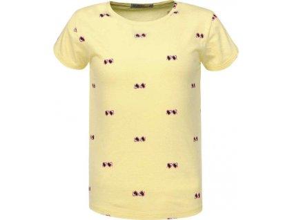 Dievčenské tričko žlté