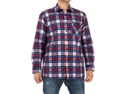 Pánska bavlnená košeľa červená
