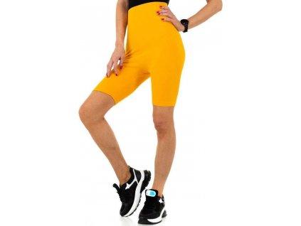 Dámske cyklistické šortky žlté