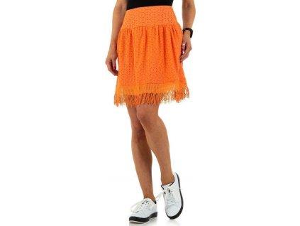 Dámska sukňa oranžová