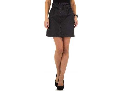 Dámska koženková sukňa čierna