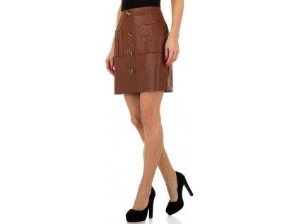 Dámska koženková sukňa hnedá