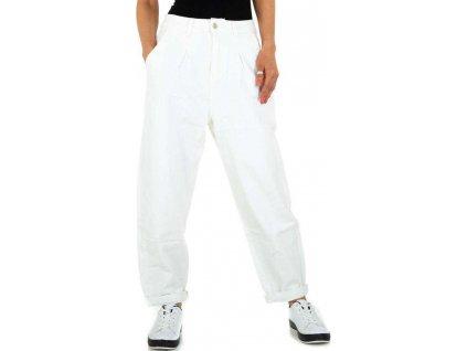 Dámske boyfriend nohavice biele C192